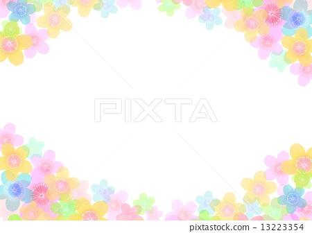 梅花圖案粉彩-插圖素材 [13223354] - PIXTA圖庫