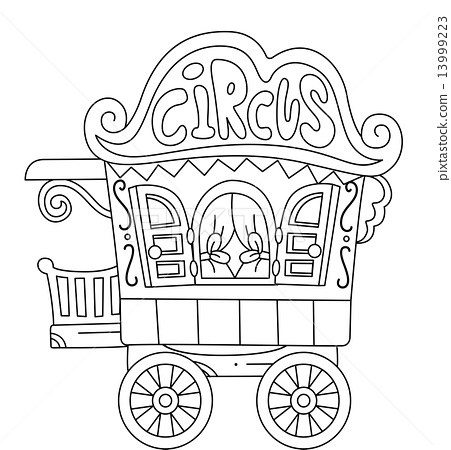 Circus Wagon Wheel Coloring Coloring Pages