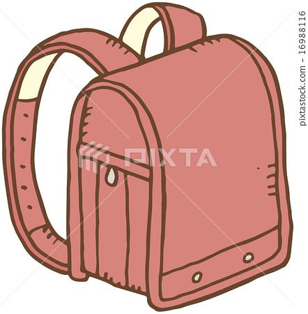一個女生書包-插圖素材 [16988116] - PIXTA圖庫