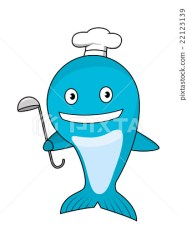 Cartoon blue whale chef wearing cook hat Stock Illustration [22123139] PIXTA