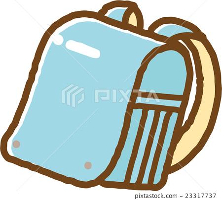 書包(淺藍色)-插圖素材 [23317737] - PIXTA圖庫