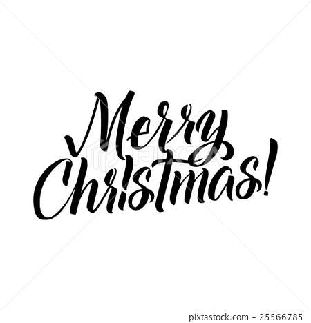 merry christmas calligraphy. greeting
