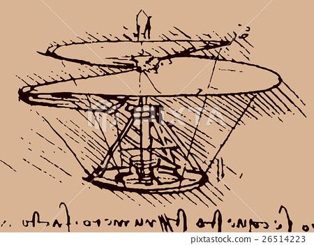 helicopter sketch leonardo da