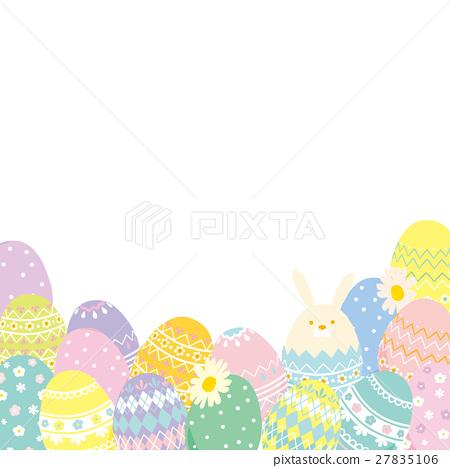 復活節彩蛋和兔子-插圖素材 [27835106] - PIXTA圖庫