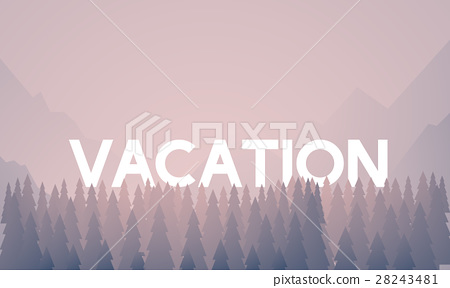 Vacation Word On Nature Background With Trees Stock Illustration 28243481 Pixta