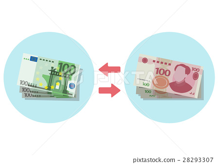 插圖素材歐元人民幣兌換-插圖素材 [28293307] - PIXTA圖庫
