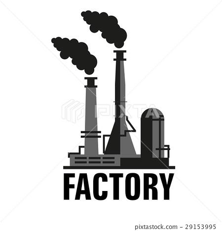 factory vector icon stock