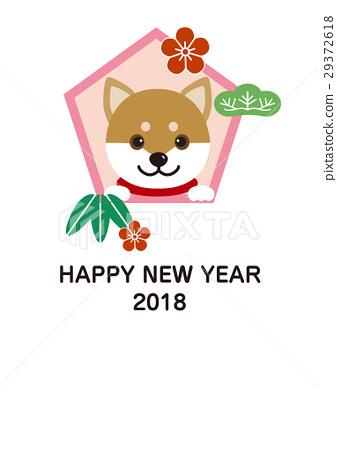 新年賀卡2018年年底(垂直位置)-插圖素材 [29372618] - PIXTA圖庫