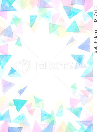 水彩紋理幾何樣式框架-插圖素材 [32375110] - PIXTA圖庫