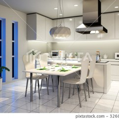 Kitchen Desk White Table 厨房桌子桌 图库插图 32601730 Pixta 厨房桌子桌32601730