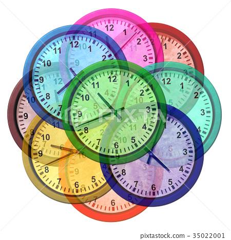 time zone clocks stock