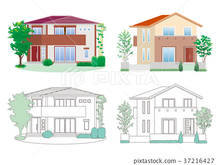 房子的插圖-插圖素材 [37216427] - PIXTA圖庫