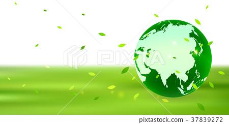 新綠色地球eco背景-插圖素材 [37839272] - PIXTA圖庫