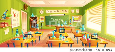 Vector cartoon illustration of school classroom Stock Illustration [38101093] PIXTA
