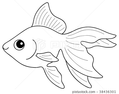 goldfish coloring page # 2