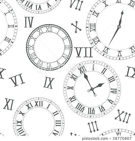 time background clocks stock