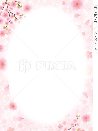 背景材料櫻花-插圖素材 [38795130] - PIXTA圖庫