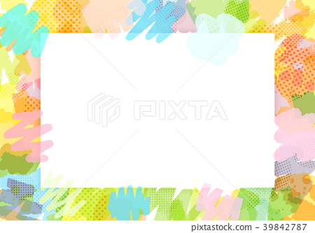 畫筆描邊背景素材-插圖素材 [39842787] - PIXTA圖庫
