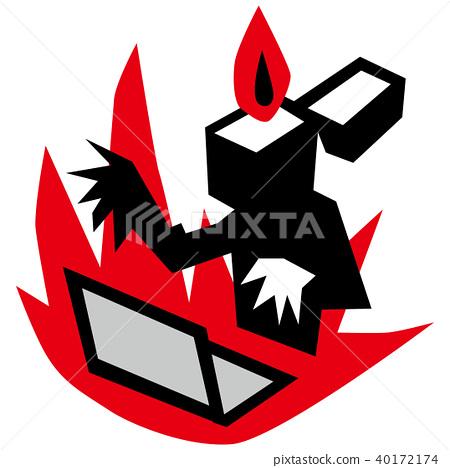 illustration of internet flame