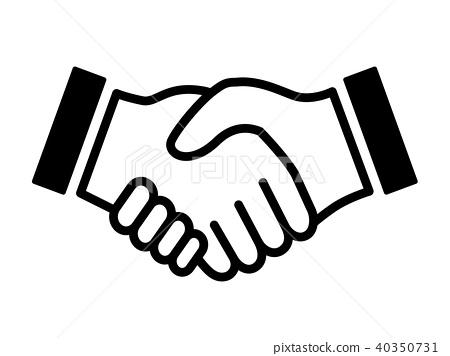 Handshake icon - Stock Illustration [40350731] - PIXTA