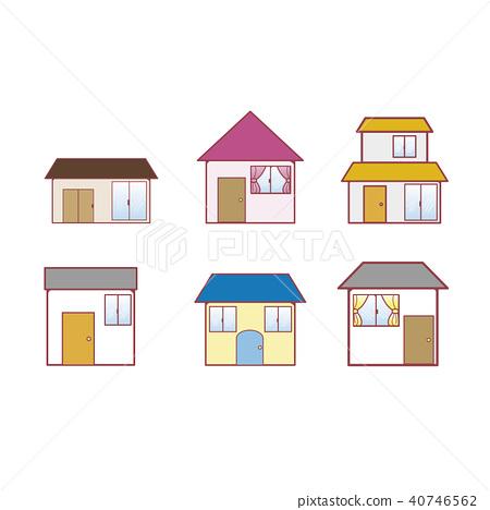 一幢房子-插圖素材 [40746562] - PIXTA圖庫