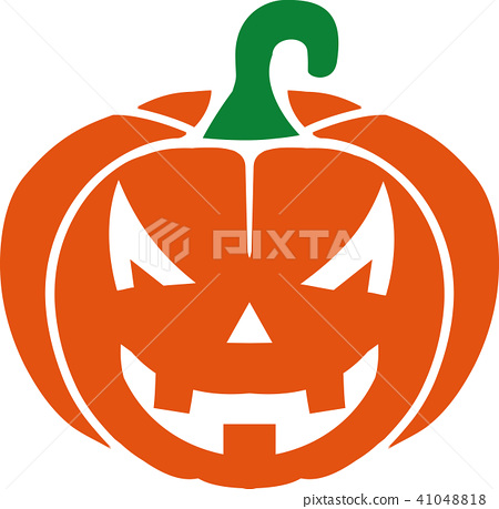scary pumpkin with face