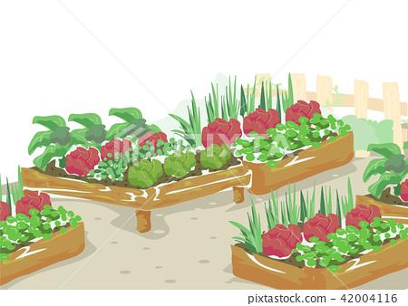 Edible Garden Illustration Stock Illustration 42004116 Pixta