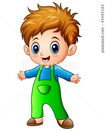 Boy Cartoon Images : cartoon, images, Little, Cartoon, Stock, Illustration, [43493183], PIXTA
