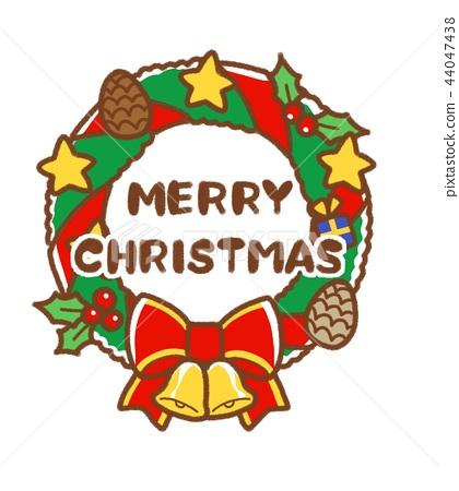 聖誕快樂(里斯)-插圖素材 [44047438] - PIXTA圖庫