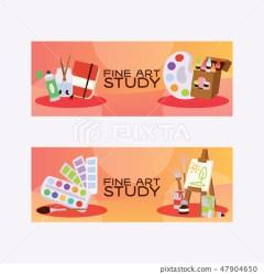 Art studio vector studying in art school with Stock Illustration [47904650] PIXTA