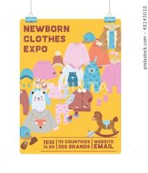 Baby shop vector shopping sale of cartoon kids Stock Illustration [48143018] PIXTA