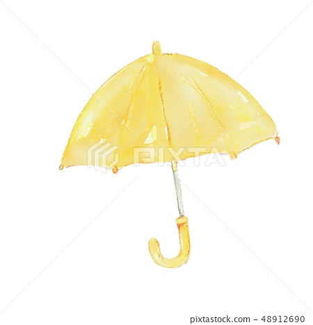 黃傘-插圖素材 [48912690] - PIXTA圖庫
