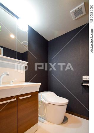 Toilet Bathroom Vanity Studio Apartment Stock Photo 48958250 Pixta