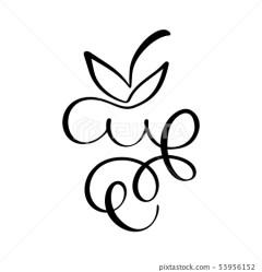 Vector hand drawn Bunch of grapes outline Stock Illustration [53956152] PIXTA