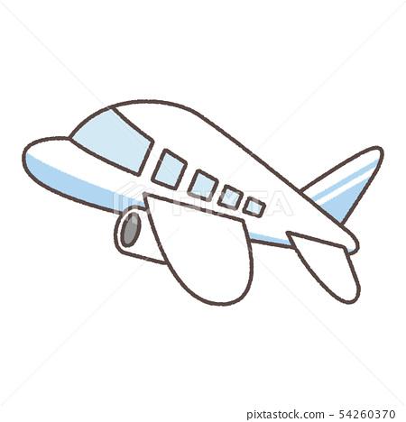 藍色圖案的飛機-插圖素材 [54260370] - PIXTA圖庫