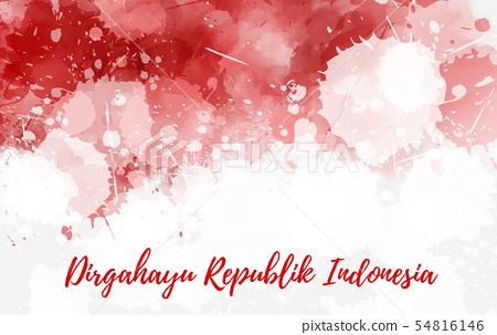 Indonesia Independence Day Background Stock Illustration 54816146 Pixta