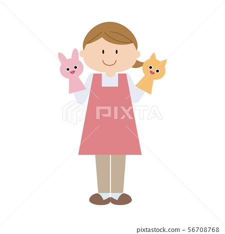 幼兒園老師2-插圖素材 [56708768] - PIXTA圖庫