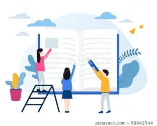 Studying Education Vector Illustrations Stock Illustration [58042544] PIXTA