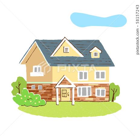房子-插圖素材 [58157243] - PIXTA圖庫