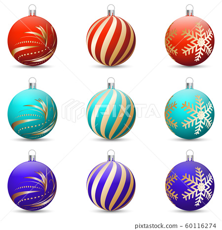 Vector Drawing Festives Christmas Decorations Stock Illustration 60116274 Pixta