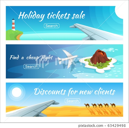 Travel Advertisement Ticket Sale Vector Stock Illustration 63429498 Pixta