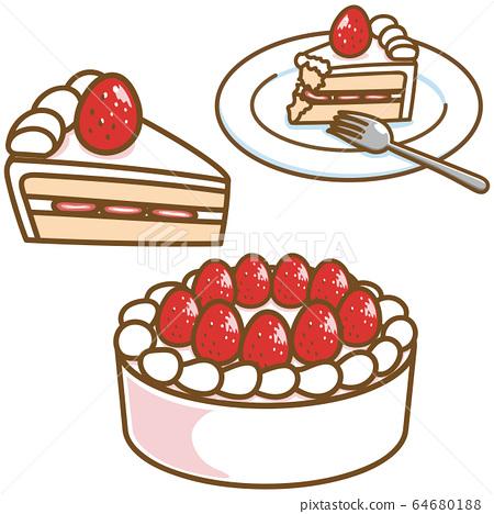 一塊蛋糕-插圖素材 [64680188] - PIXTA圖庫