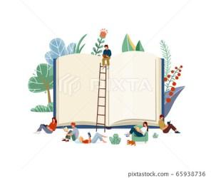 Books reading concept vector illustration Stock Illustration [65938736] PIXTA