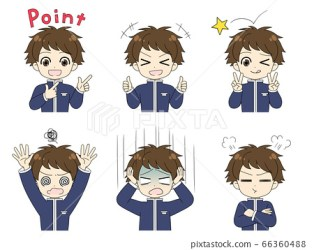 School uniform schoolboy high school student Stock Illustration [66360488] PIXTA