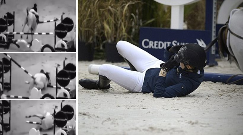 Athina Onasis equine accident video released