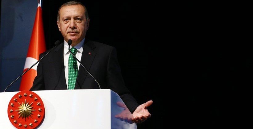 Erdogan gave a speech which rankled his neighbors.