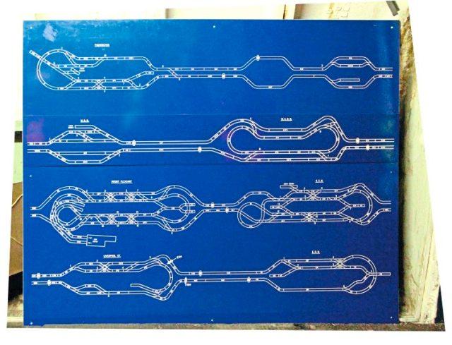 Mail Rail passenger train ride blueprints