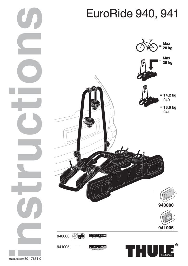 euroride 2 bikes bike carrier hitch fitting instructions
