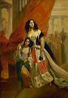Karl Brullov. Portrait of Countess Yulia Samoilova, née Skavronskaya, Retiring from a Ball with her Foster Daughter Amazilia Pacini