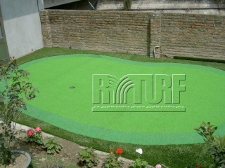 Artificial grass green practice area